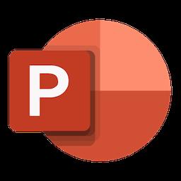 Logo de Microsoft PowerPoint 2019