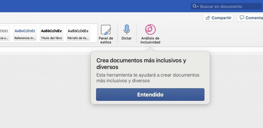 Complemento de Inlexa instalado en Microsoft Word