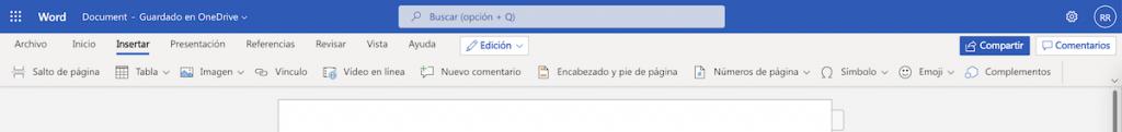 Obtener complemento en Microsoft Word online